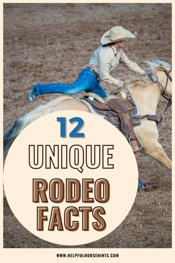 Pinterest pin - 12 Unique Rodeo Facts