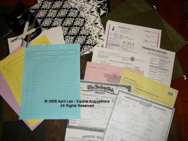 horse record folders supplies