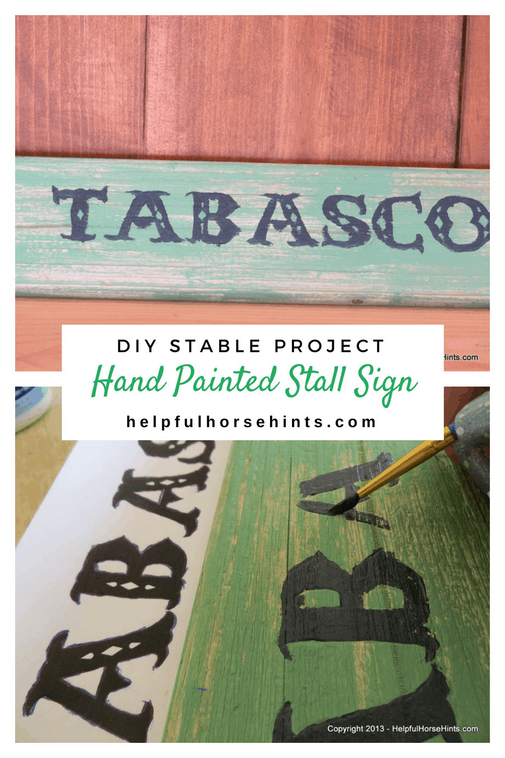 DIY Hand Painted Stall Signs