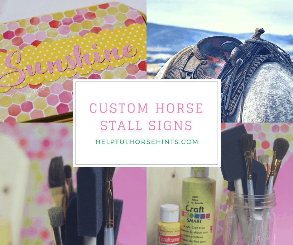 DIY Customized Horse Stall Signs
