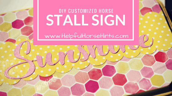 Customized Horse Stall Sign