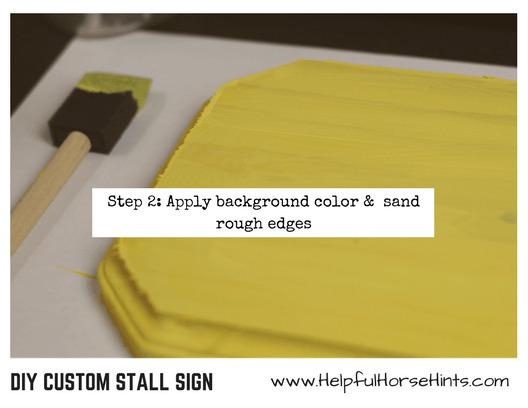 diy custom stall sign step 2
