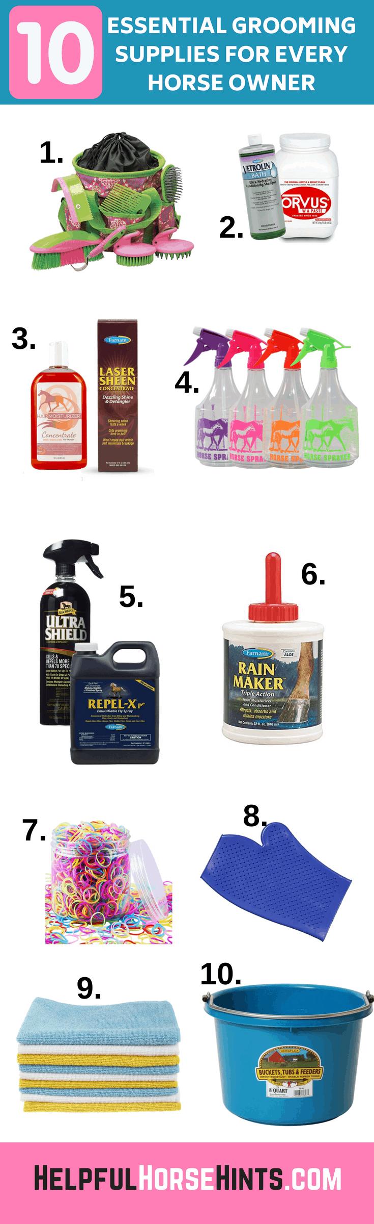 10 Essential Horse Grooming Supplies
