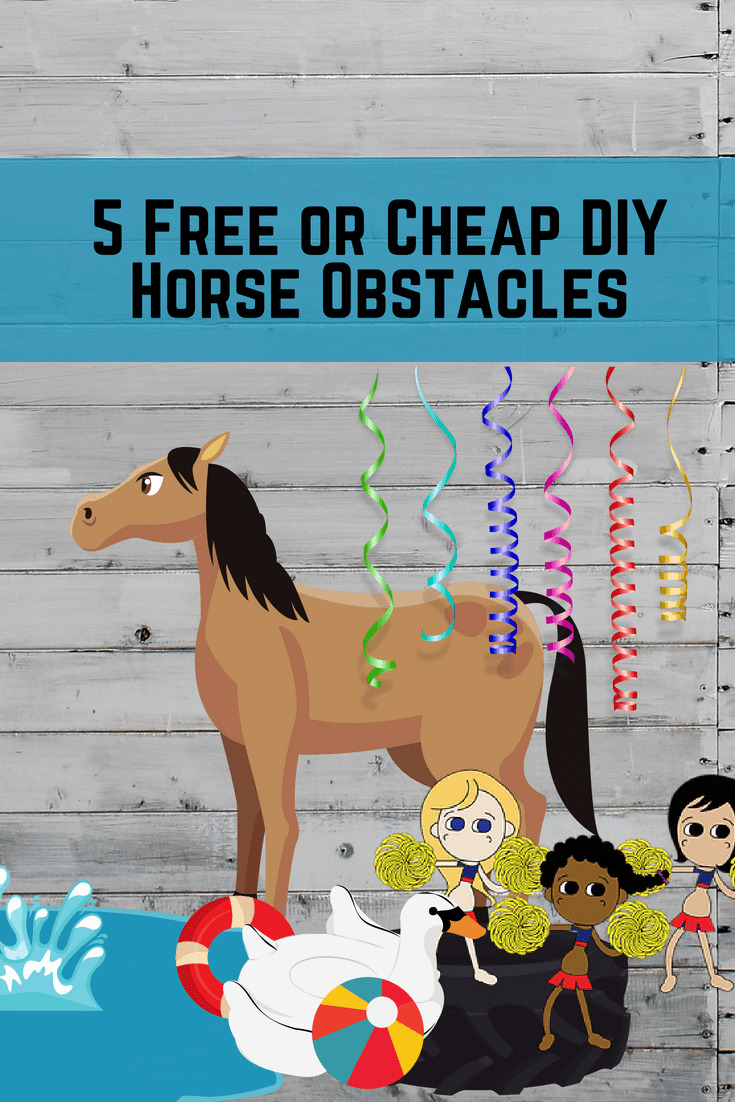Pinterest pin - 5 Free or Cheap DIY Horse Obstacles