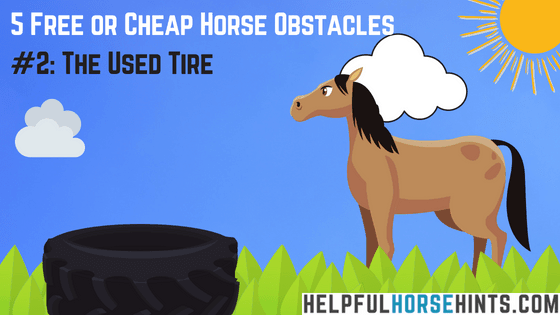 Horse Obstacle - Used Tire
