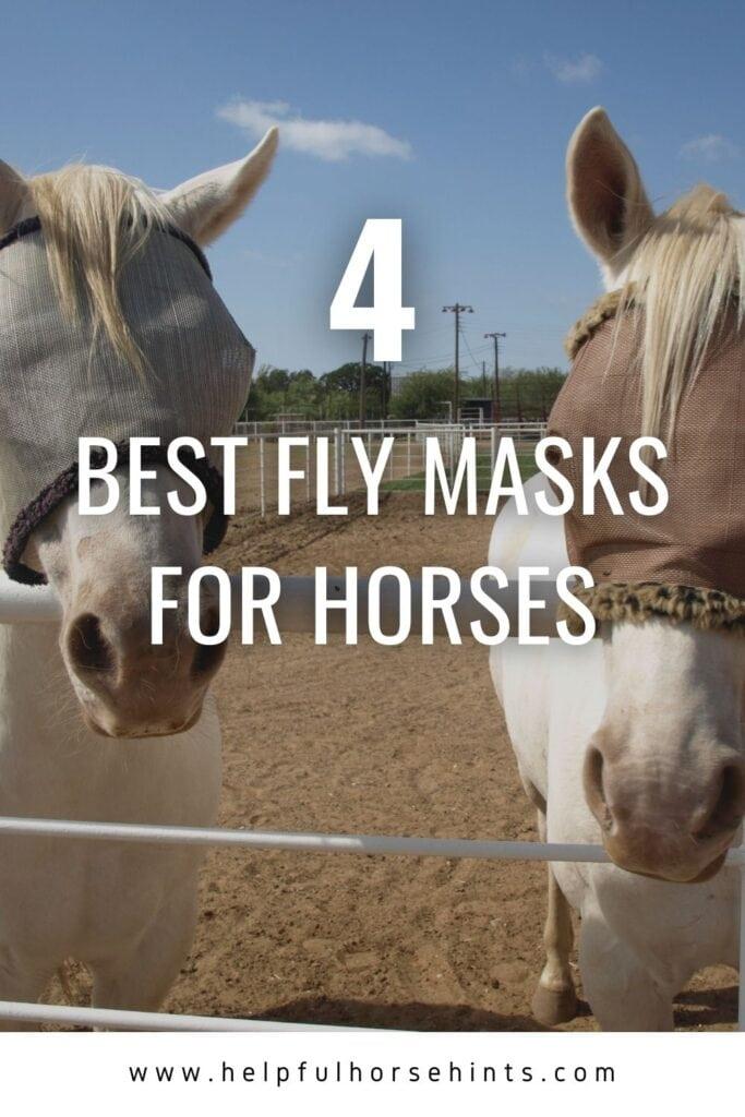 Pinterest pin - 4 Best Horse Fly Masks
