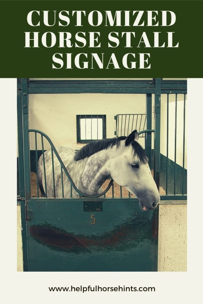 Pinterest pin - Customized Horse Stall Sign