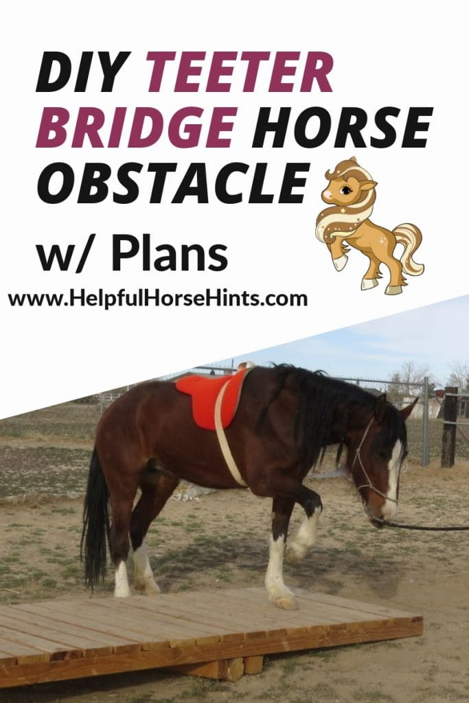 teeter bridge horse obstacle plans