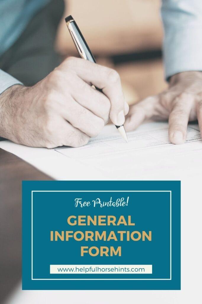 Pinterest pin - General Information Form