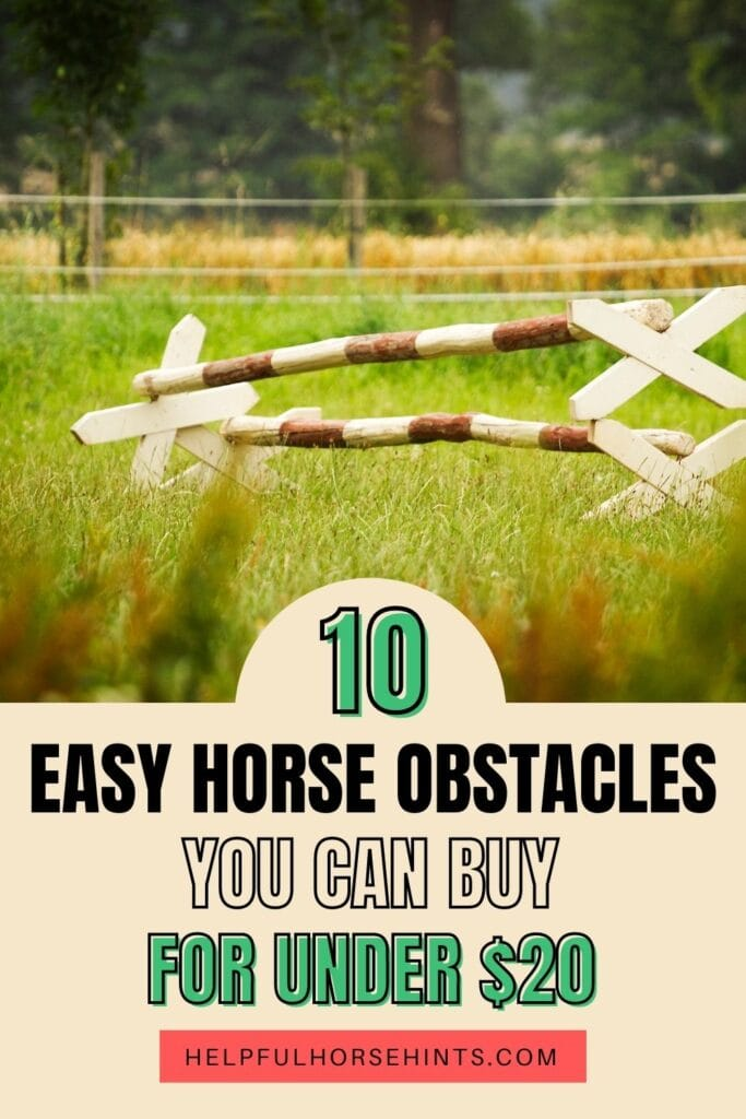 Pinterest pin - Horse Obstacles You Can Buy for Under $20