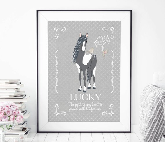 Personalized Horse Print
