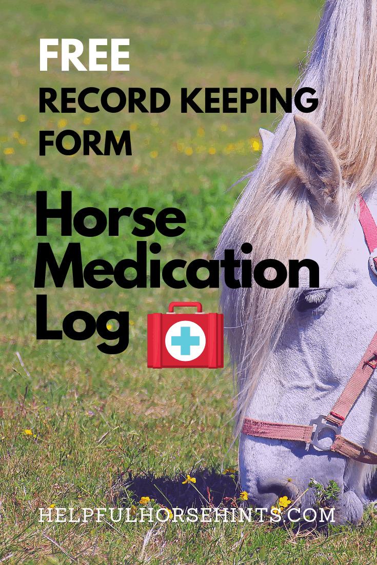 free download horse medication log
