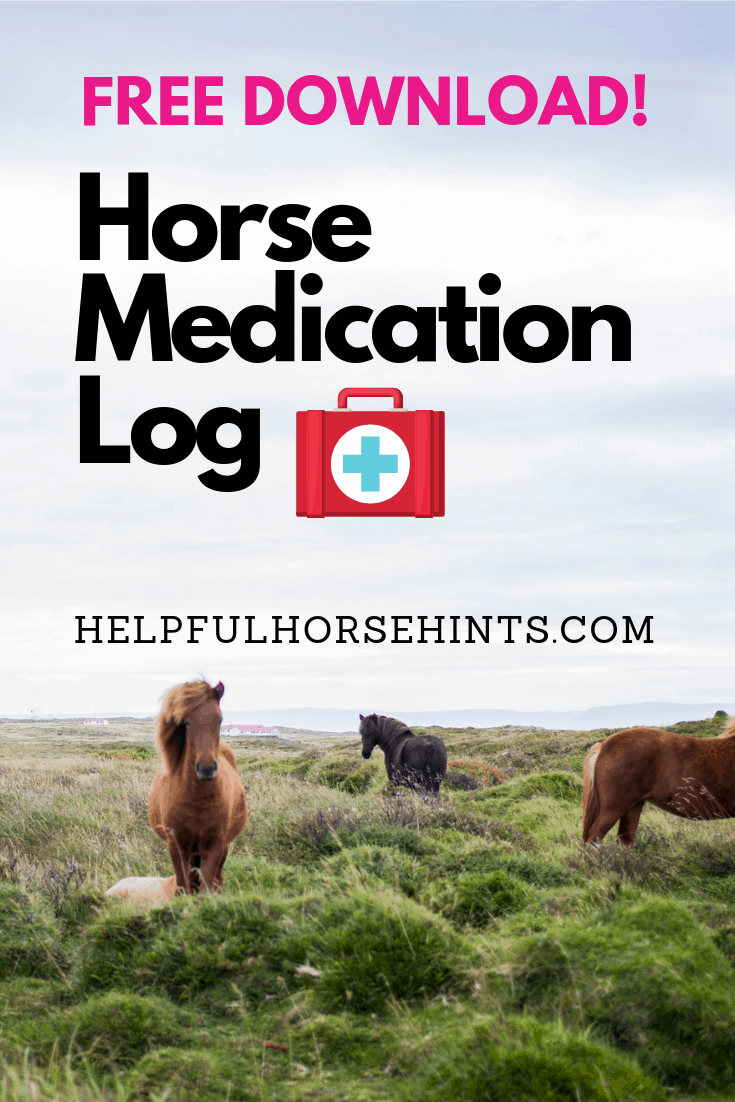 free horse form medication log