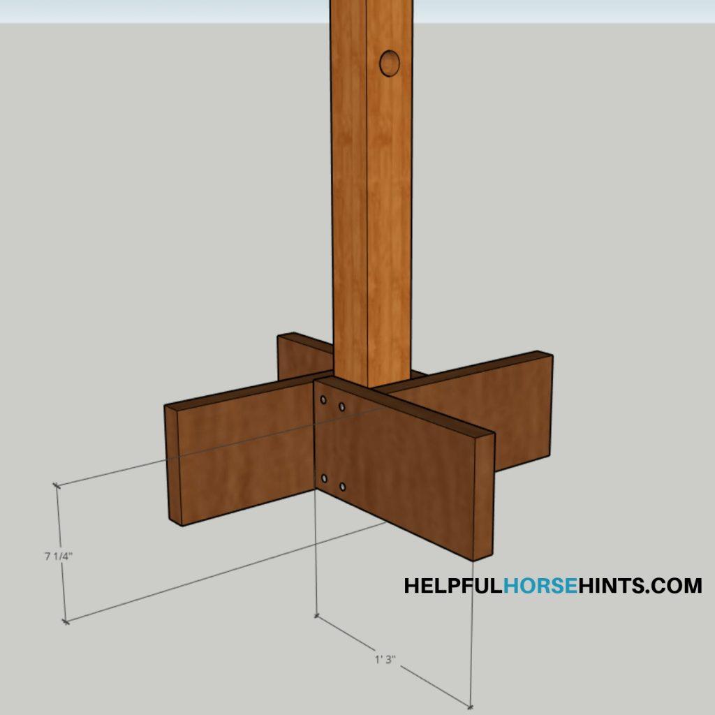 Pool Noodle Horse Obstacle Base-Easy