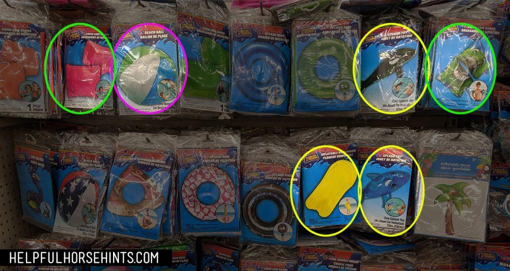 dollar store pool toys