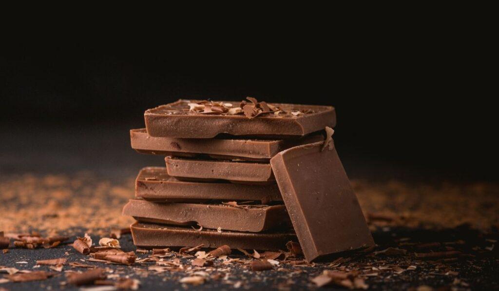 blocks of milk chocolate