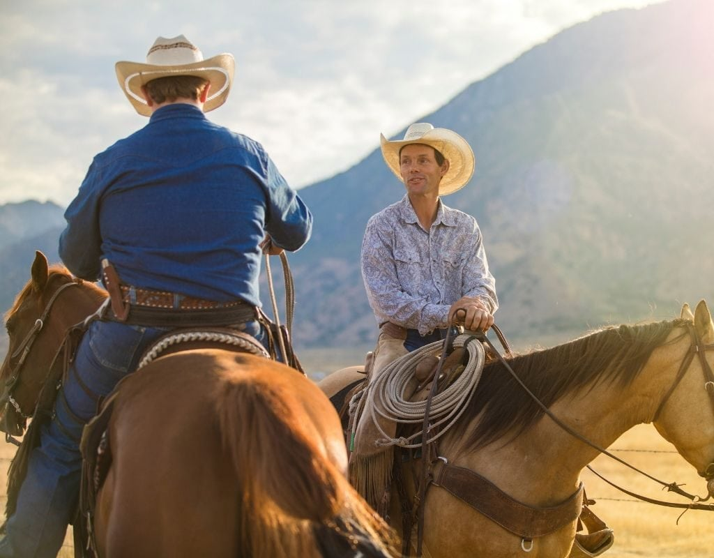 cowboys on quarter horses