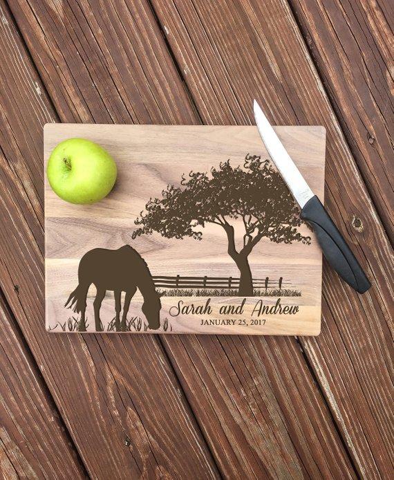 customized horse cutting board