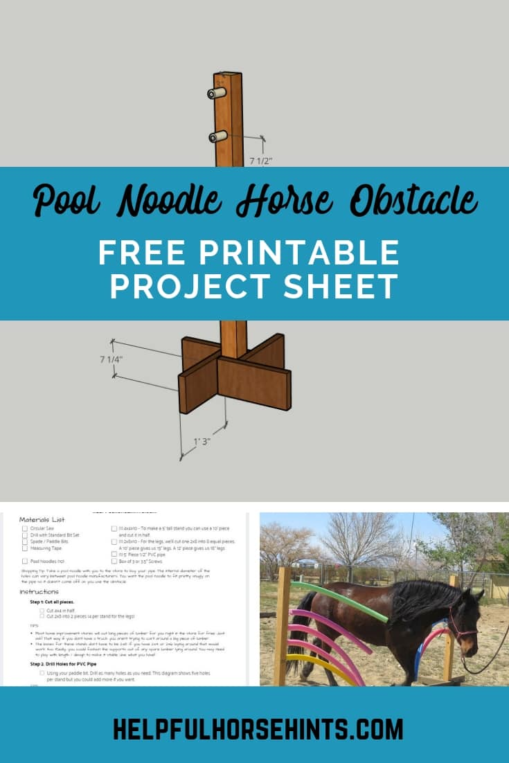 free printable project sheet horse obstacle - pinterest pin