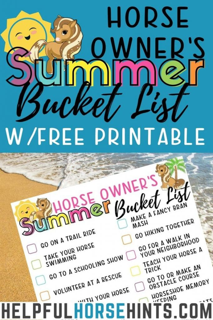 pinterest image for summer bucket list
