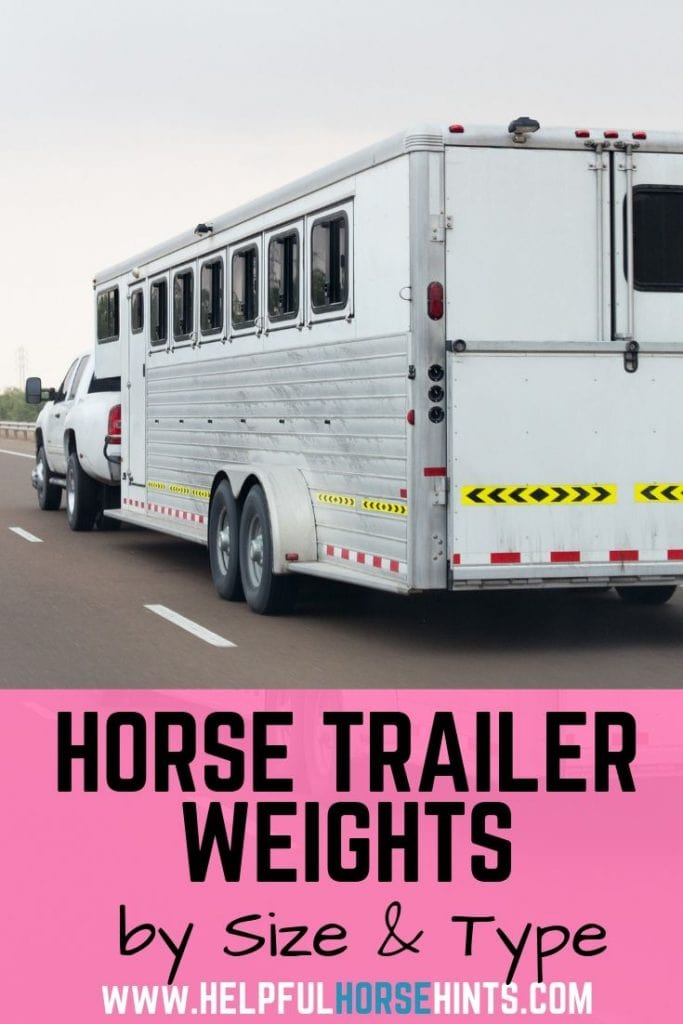 Pinterest pin - Horse Trailer Weights