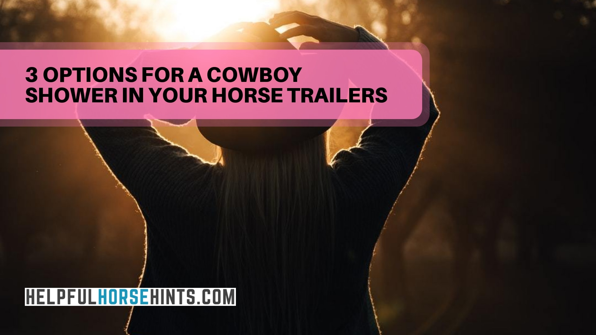 options for a cowboy shower in your horse trailers
