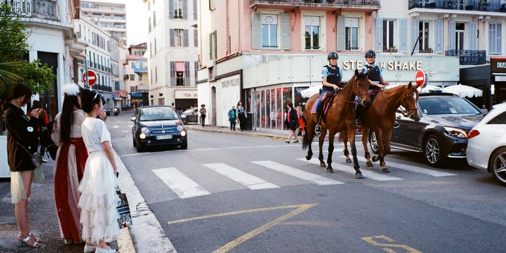 police horses at work