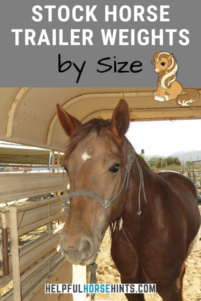 Pinterest pin - Average Horse Trailer Weights